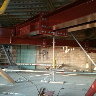 Provisorische Stahlbauten